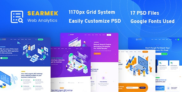 Searmek - SEO and Marketing PSD Template - Marketing Corporate