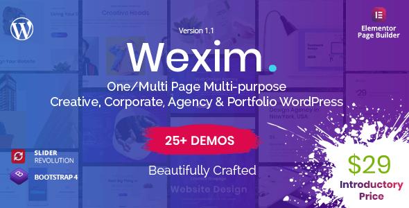 Wexim - Creative WordPress Theme - Portfolio Creative