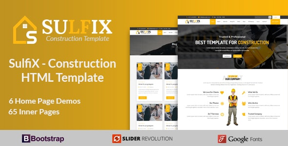 SulfiX - Construction HTML Template - Business Corporate