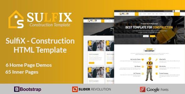 SulfiX - Construction HTML Template