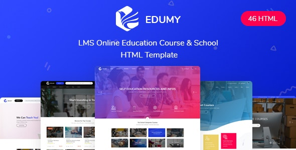 Edumy - LMS Online Education Course & School HTML Template by CreativeLayers