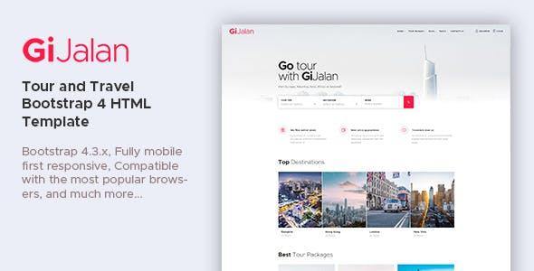 GiJalan - Tour and Travel Bootstrap 4 HTML Template