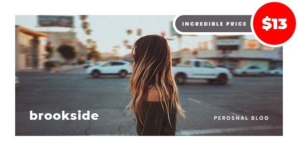 Brookside - Personal WordPress Blog Theme - Personal Blog / Magazine
