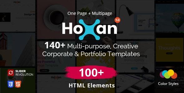 Hoxan - Multipurpose Creative HTML5 - Portfolio Creative
