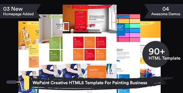 WePaint - Creative HTML5 Template For Painting Business - Business Corporate