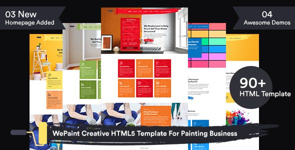 WePaint - Creative HTML5 Template For Painting Business