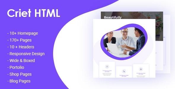 Criet | Responsive Multipurpose HTML5 Website Template - Business Corporate