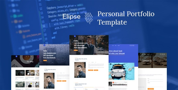 Elipse - Personal Portfolio HTML5 Template - Virtual Business Card Personal