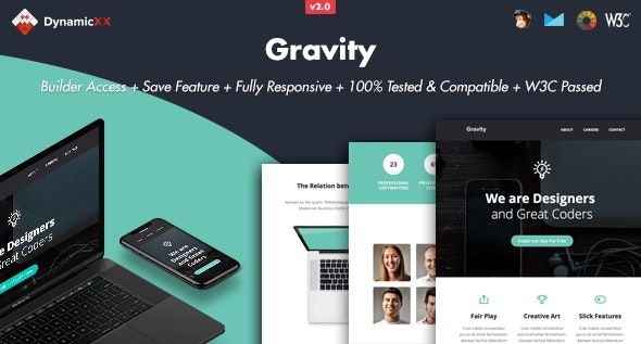 Gravity - Responsive Email + Online Builder - Email Templates Marketing
