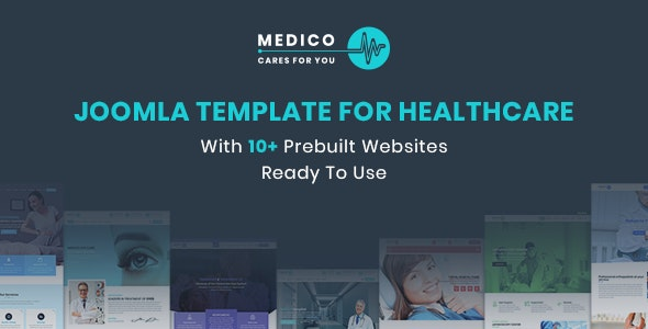 Medico - Joomla Template For Healthcare With Prebuilt Websites - Joomla CMS Themes