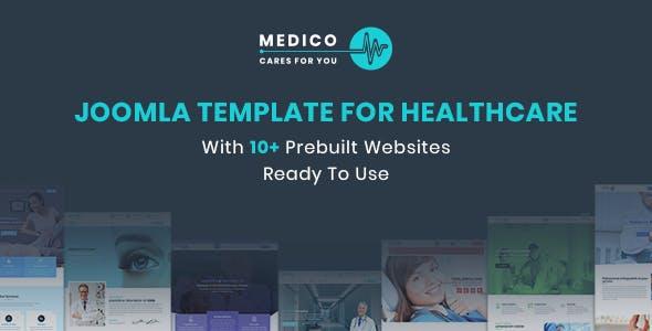 Medico - Joomla Template For Healthcare With Prebuilt Websites