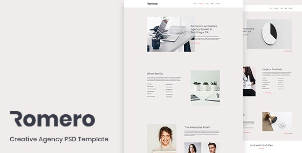 Romero - Creative Agency PSD Template - Creative PSD Templates