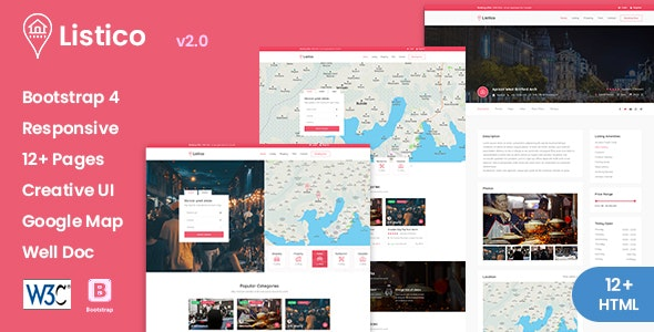 Listico - Listing & Directory HTML Template - Business Corporate