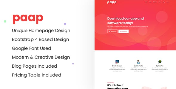 Download Papp - Multipurpose Responsive Landing Page Jekyll Theme