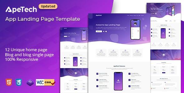 Apetech - App Landing Page