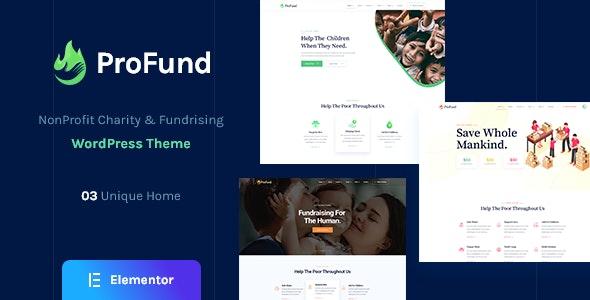 ProFund - Nonprofit Charity WordPress Theme - Charity Nonprofit