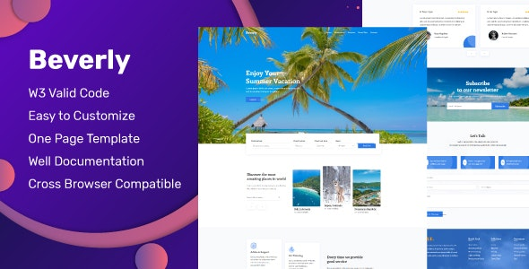 Beverly - Travel Agency Parallax Template - Travel Retail