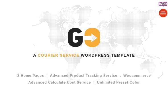 GO Courier– Delivery Transport WordPress Theme - Business Corporate