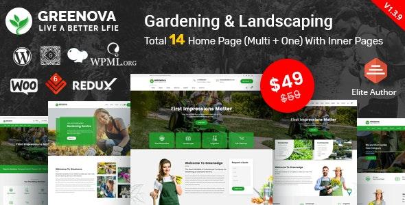 Greenova - Gardening & Landscaping WordPress Theme - Business Corporate