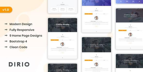 Dirio - Personal Portfolio and Resume Template by themesdesign