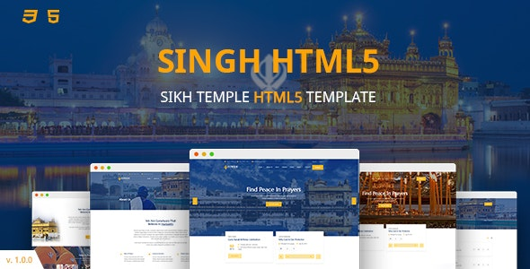 Singh HTML5 Template by Slidesigma