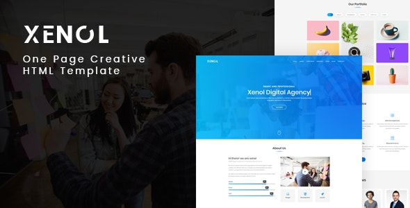 Xenol - One Page HTML Template - Creative Site Templates