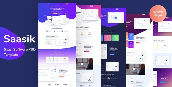 Saasik - Landing Page for Saas - Marketing Corporate