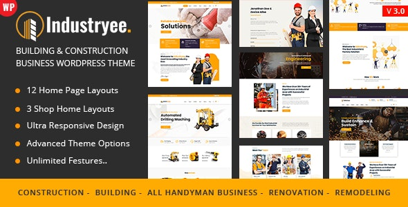 Industryee - Factory Industrial - Business Corporate