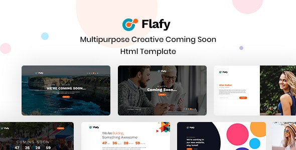 Flafy | Multipurpose Coming Soon HTML Template - Under Construction Specialty Pages