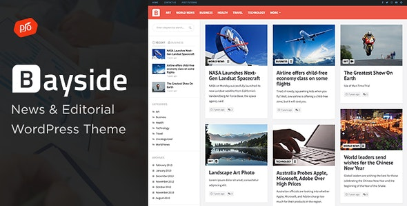 Bayside - Responsive WordPress Theme - News / Editorial Blog / Magazine