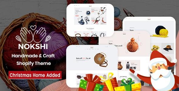 Handmade & Craft  Responsive Shopify Theme - Nokshi - Shopping Shopify