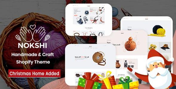 Handmade & Craft  Responsive Shopify Theme - Nokshi