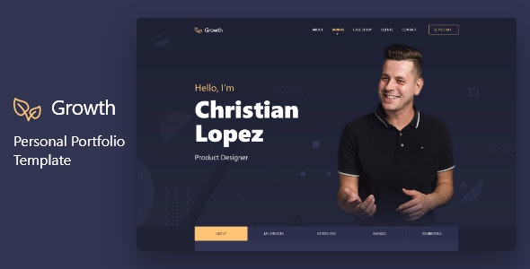 Growth – Personal Portfolio Template - Personal Site Templates