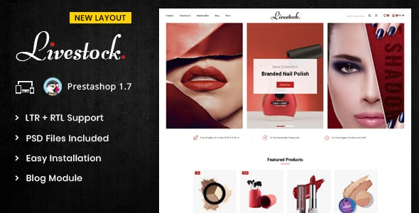 LiveStock - Prestashop 1.7 Responsive Theme - Health & Beauty PrestaShop