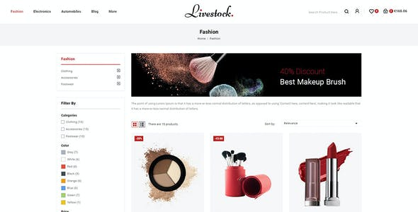 LiveStock - Prestashop 1.7 Responsive Theme
