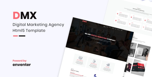 DMX – Digital Marketing Agency Html5 Template - Marketing Corporate