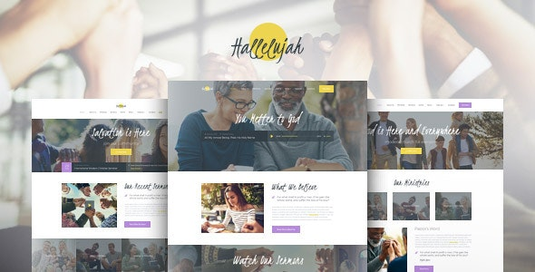 Hallelujah | Church & Religion WordPress Theme - Churches Nonprofit