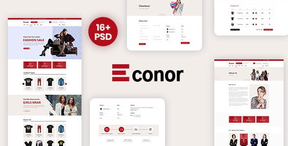Econor – Ecommerce PSD Template - Shopping Retail