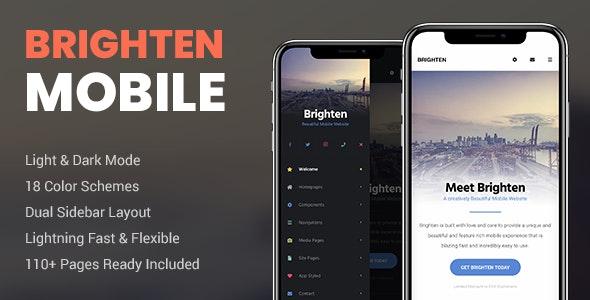 Brighten Mobile - Mobile Site Templates