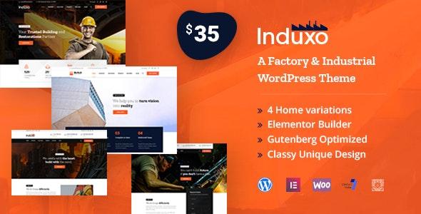 Induxo - Factory & Industrial WordPress Theme - Business Corporate