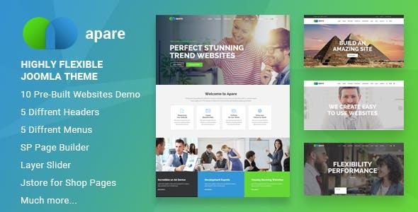 Apare - Responsive Multipurpose Joomla Website Template With Page Builder