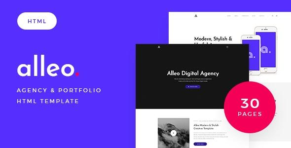 Alleo - Agency & Portfolio HTML Template - Portfolio Creative