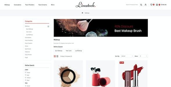 LiveStock  - OpenCart 3.x Responsive Theme