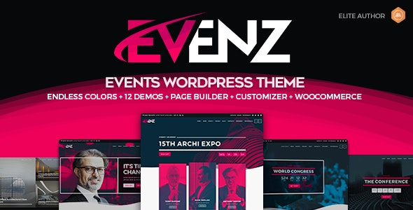 Evenz - Conference and Event WordPress Theme - Events Entertainment