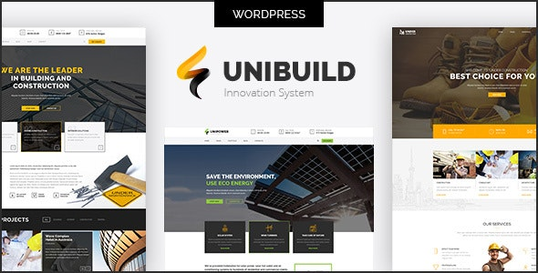 Factory, Industry, Construction Building WordPress Theme - Unibuild - Business Corporate