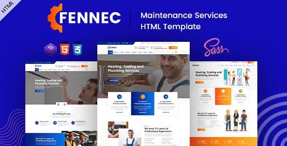 Fennec - Repair & Maintenance Services HTML Template - Business Corporate