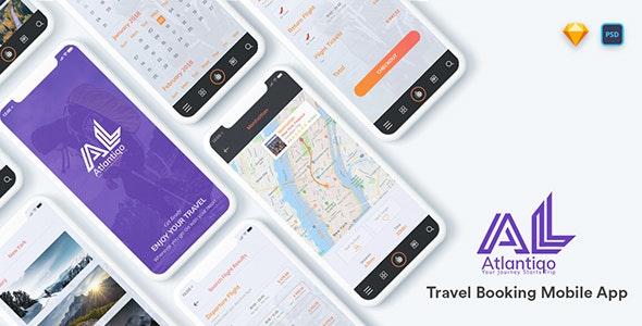 Atlantigo -Travel & Flight Booking Mobile App - Sketch Templates