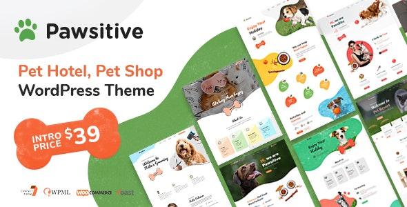 Pawsitive - Pet Hotel & Shop WordPress Theme