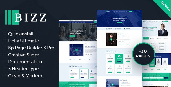 Bizz - Business Consulting and Agency for Joomla template - Corporate Joomla