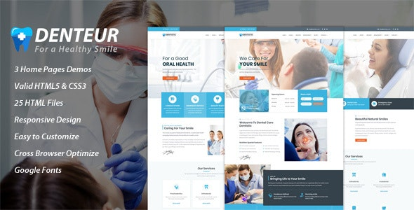 Denteur - Responsive Dental & Medical HTML Template - Health & Beauty Retail